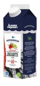 Ahvenanmaan mansikka-karviaismarja jogurtti 1kg