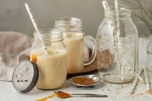 Tyrni-vaniljasmoothie välipala